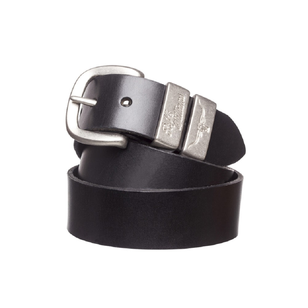 R.M. Williams Belt | 1.5 inch Wide | 3 Piece | Solid Hide | Black