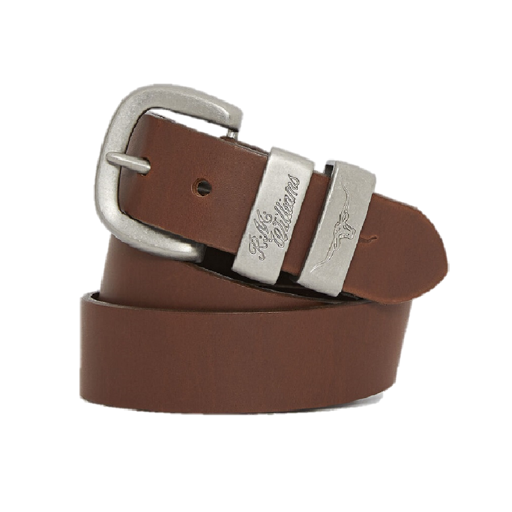 R.M. Williams Belt | 1.5 inch Wide | 3 Piece | Solid Hide | Dark Tan