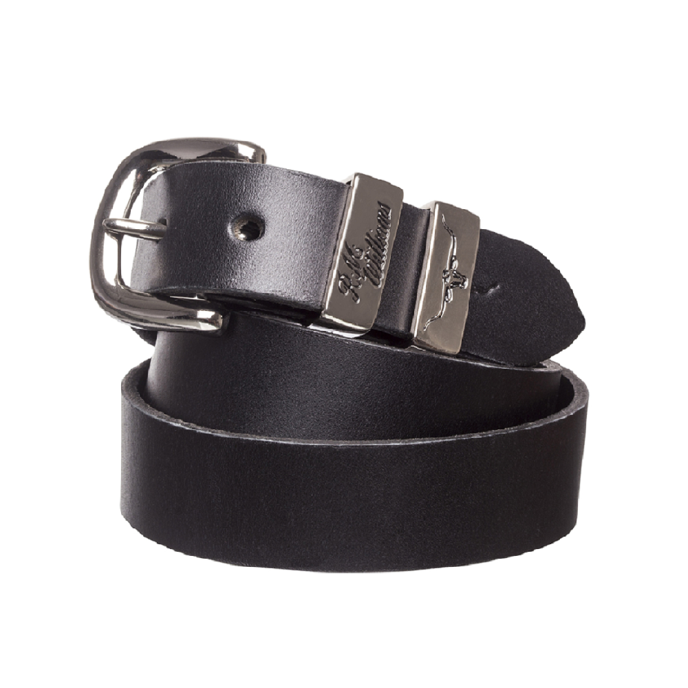 R.M. Williams Belt | 1.25 inch Wide | 3 Piece | Solid Hide | Black