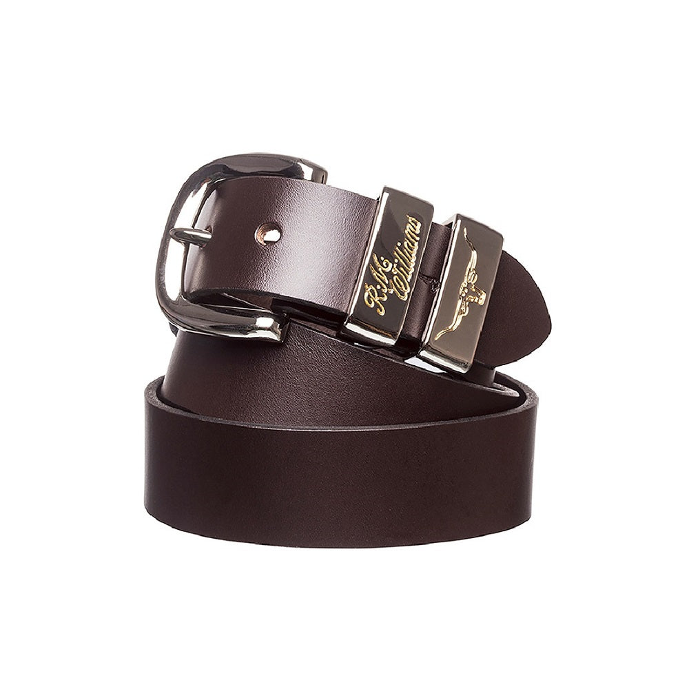 R.M. Williams Jerrawa Belt | 1.5 inch Wide | 3 Piece Buckle Set | Solid Hide | Chestnut