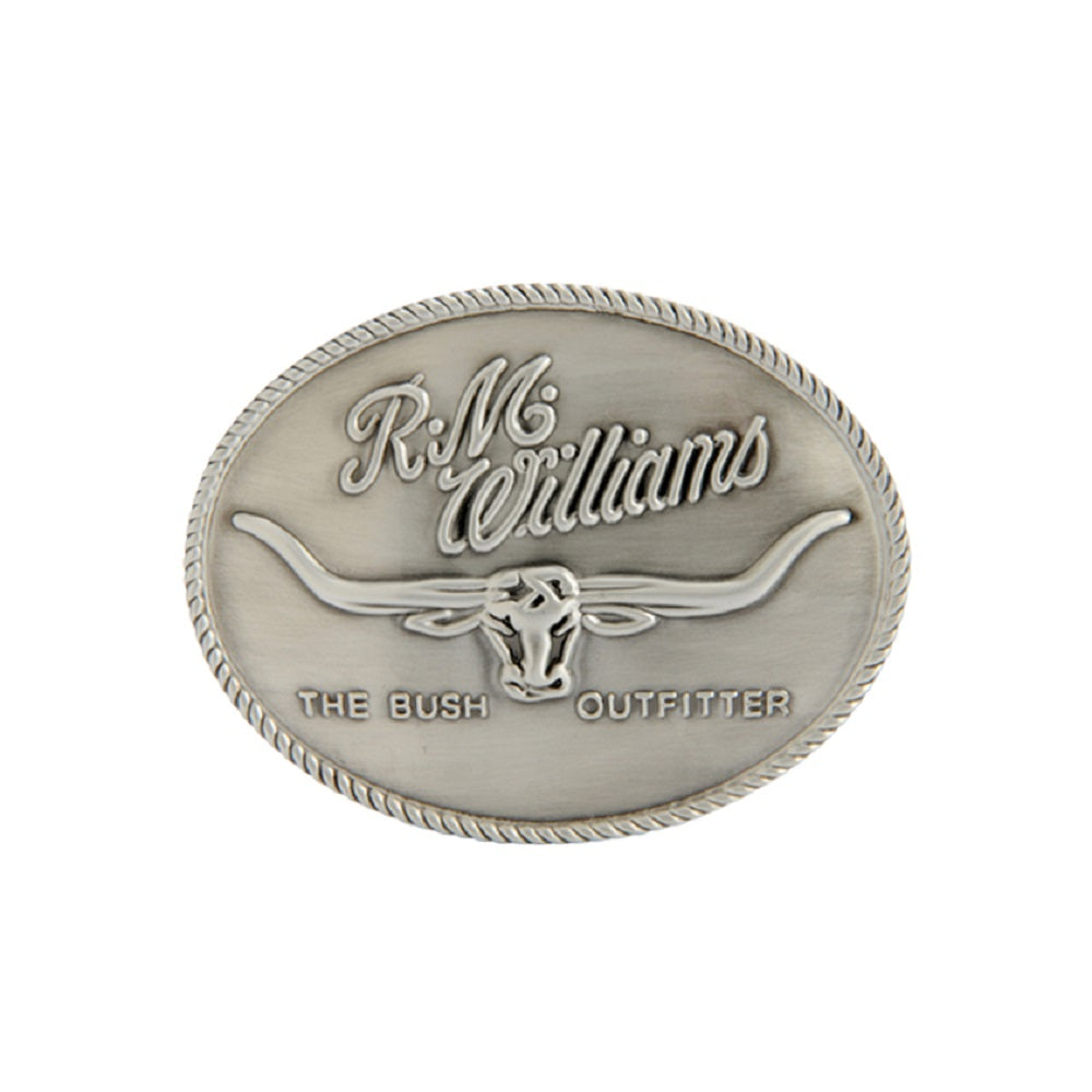 R.M. Williams Logo Buckle | Silver Tone