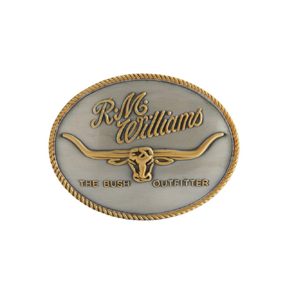 R.M. Williams Logo Buckle | Gold & Silver Tone