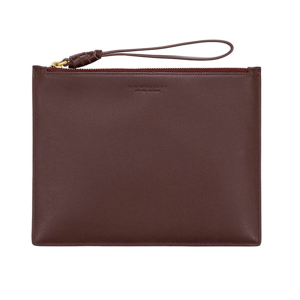 R.M. Williams Clutch Bag | Wine
