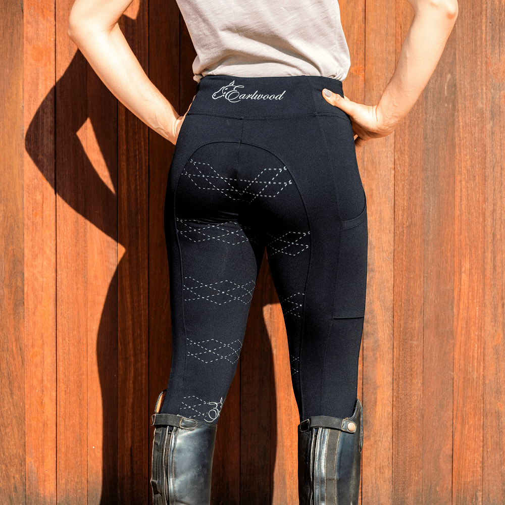 Earlwood Womens Kentucky Riding Tights | Black