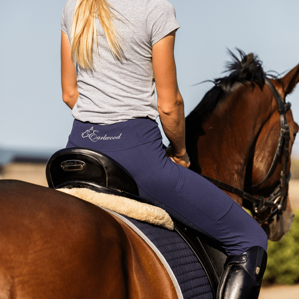 Earlwood Womens Kentucky Riding Tights | Navy