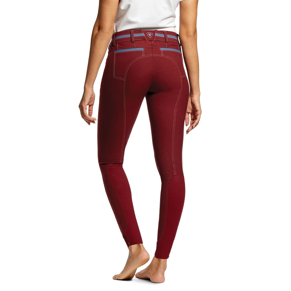 Ariat Womens Heritage Elite Grip Full Seat Breech | Cabernet | Regular Leg