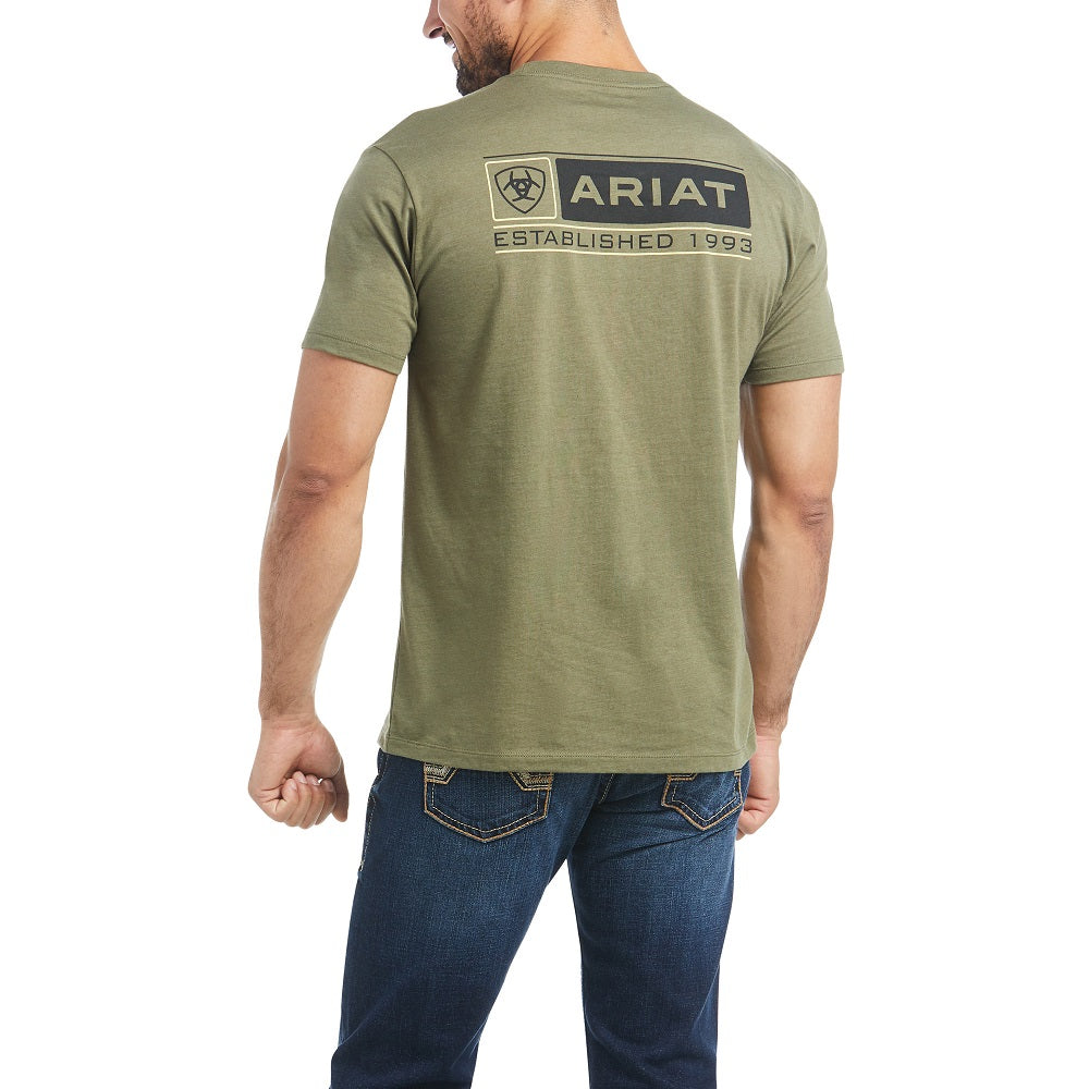 Ariat Mens Format Short Sleeve T-Shirt | Military Heather