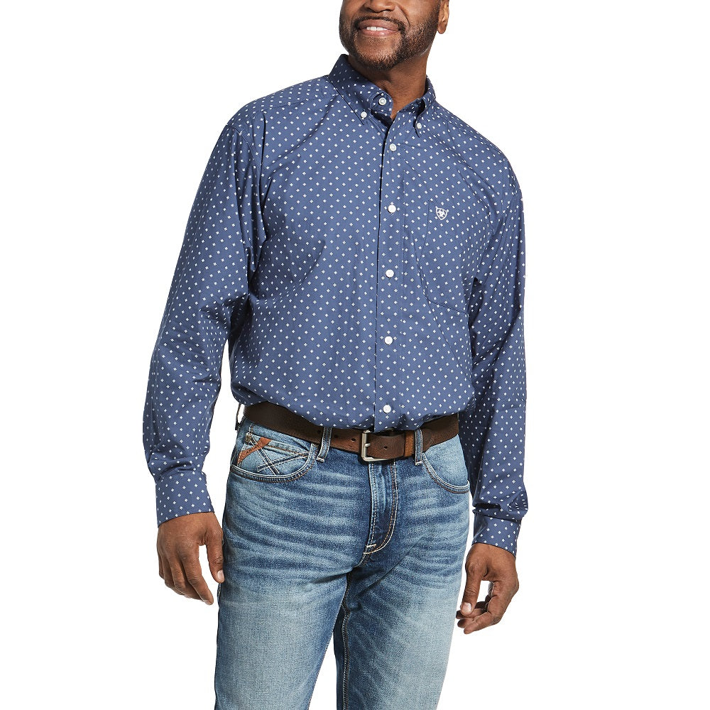 Ariat Mens Pro Series Classic Long Sleeve Shirt | Marine Blue