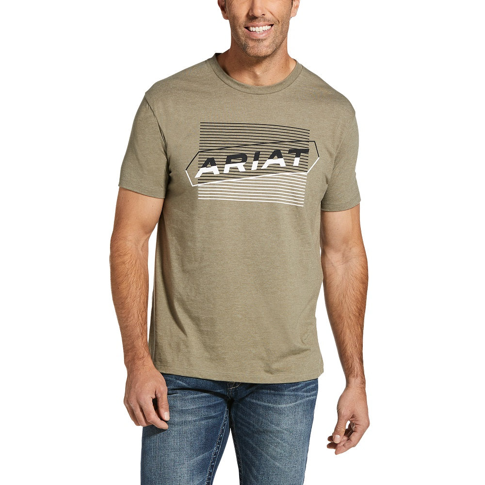Ariat Mens Two Tone T-Shirt | Olive Heather