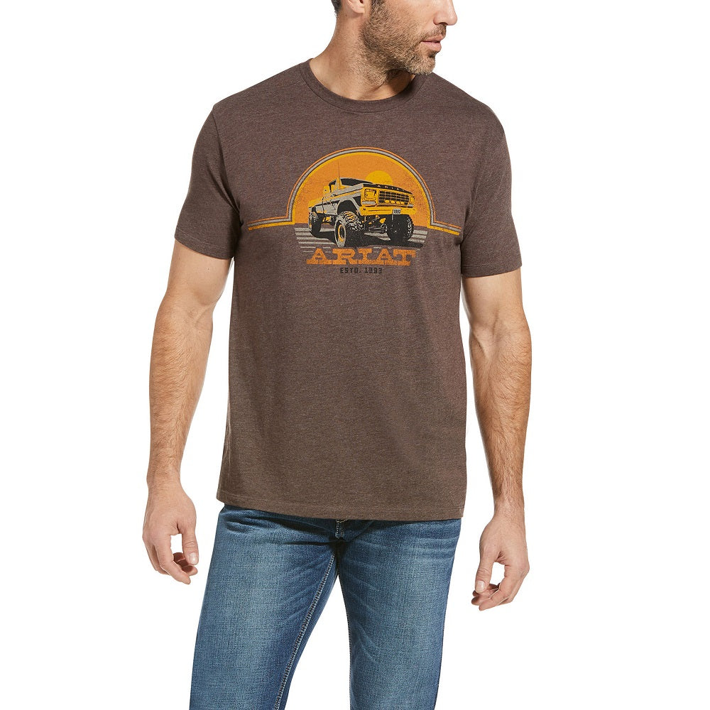 Ariat Mens Lifted Short Sleeve T-Shirt | Brown Heather