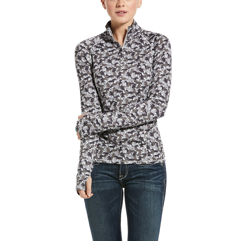 Ariat Womens Lowell 2.0 1/4 Zip | Grey Camo