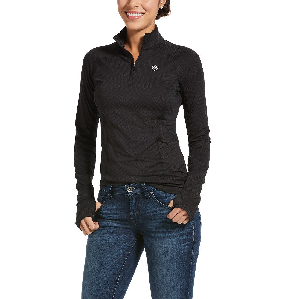 Ariat Womens Lowell 2.0 1/4 Zip | Black Reflective