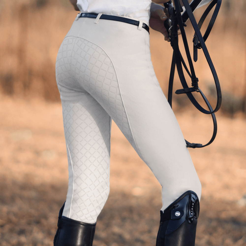 Peter Williams Womens Gel Seat Pull-On Jodhpurs | White