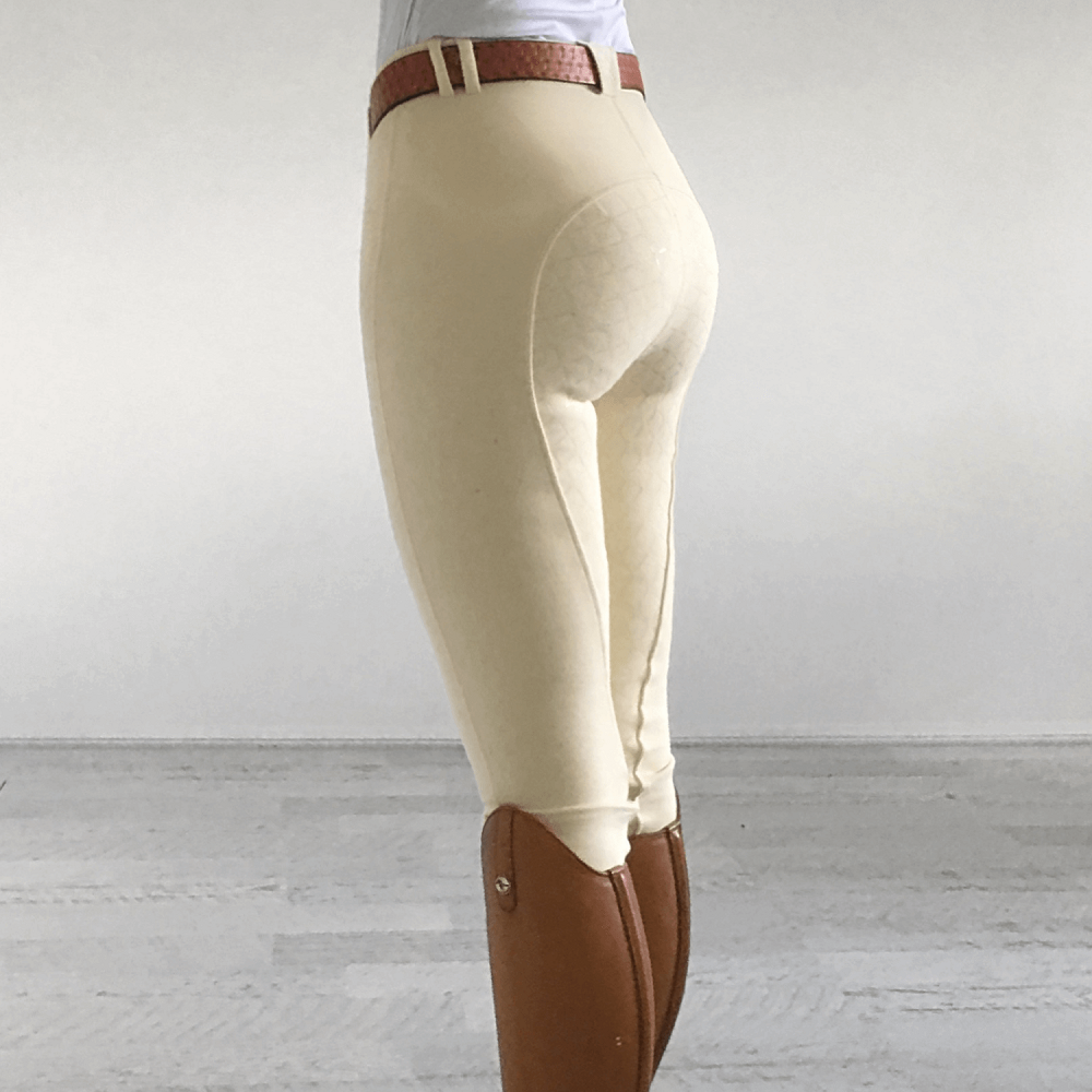 Peter Williams Womens Gel Seat Gripper Breech | Cream