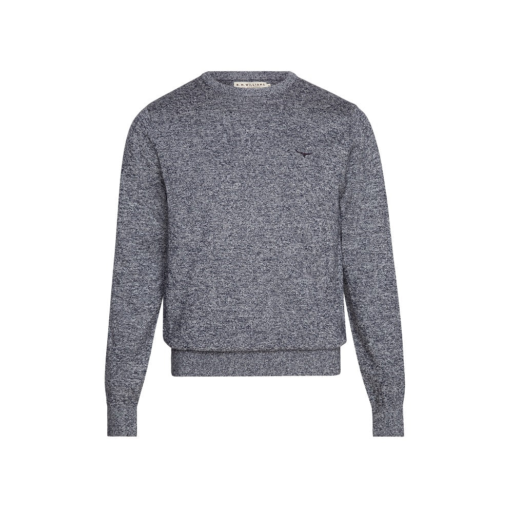R.M. Williams Howe Sweater Dark Blue / White