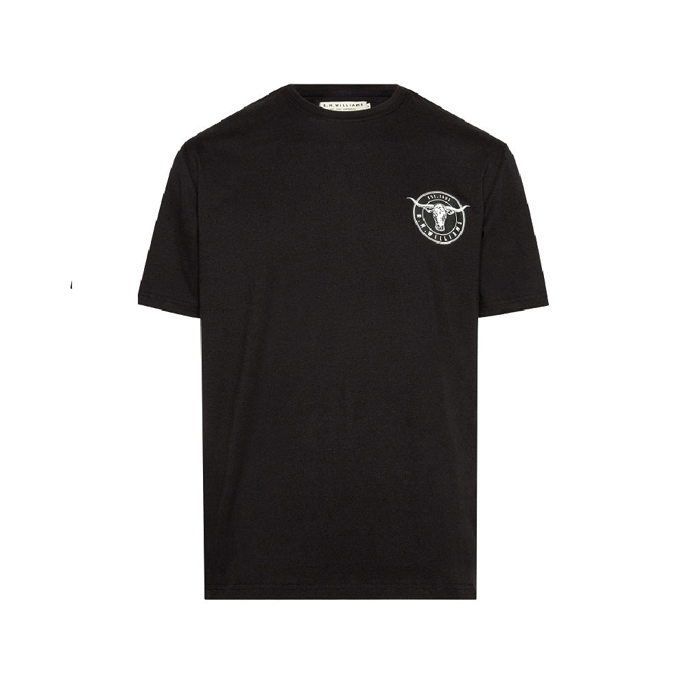 R.M. Williams Longhorn Medallion T-Shirt | Black / White