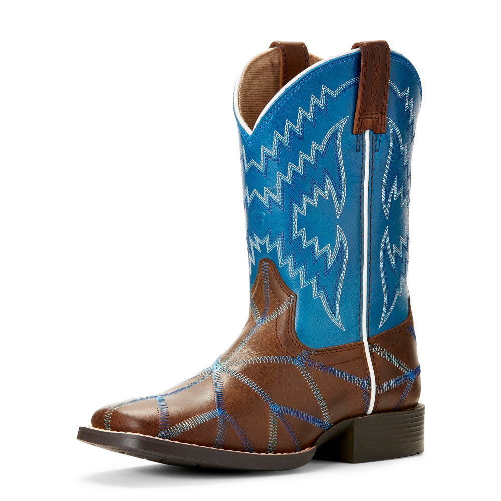 Ariat Childrens Twisted Tycoon | Distressed Brown / Baltic Blue