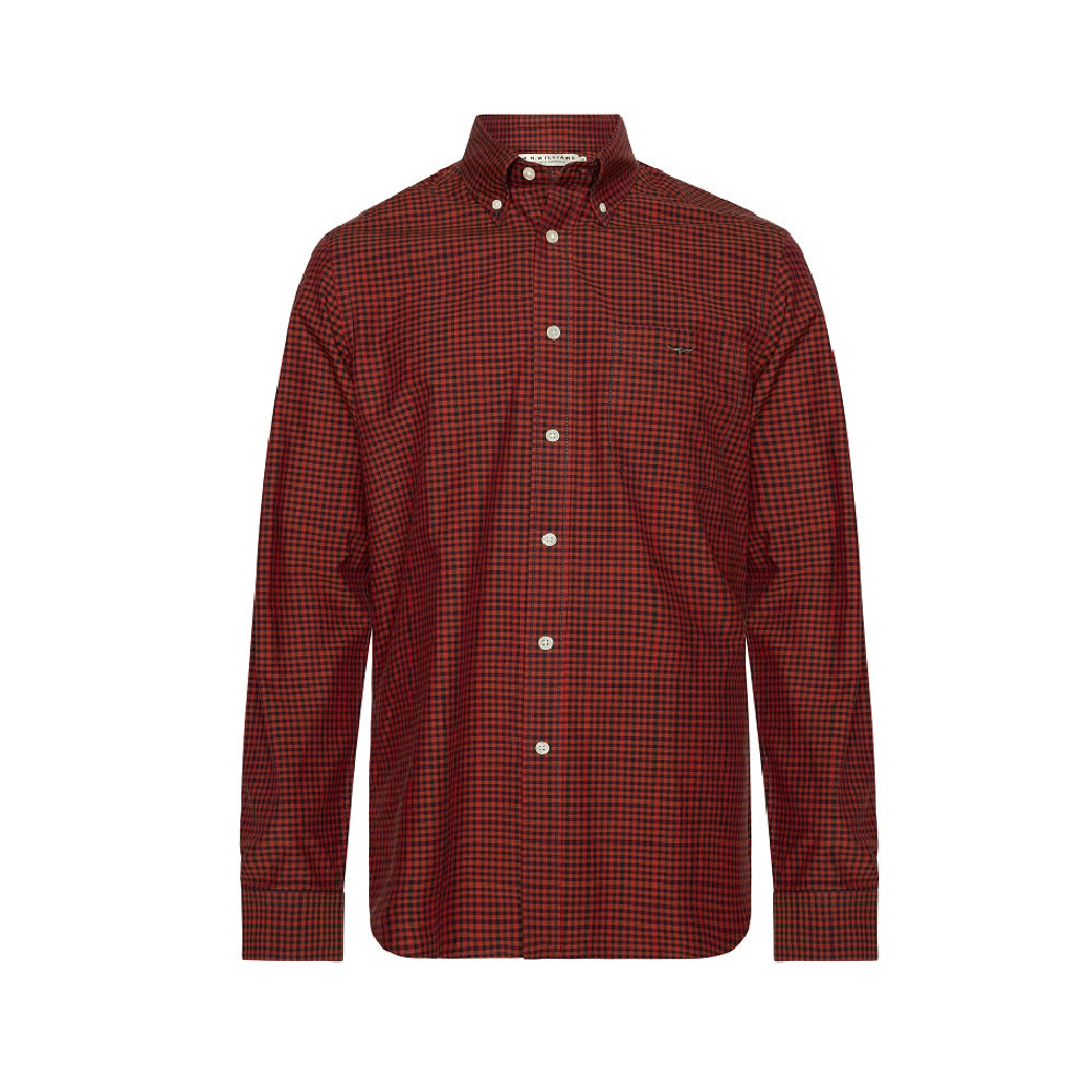 R.M. Williams Jervis Button Down Shirt | Red / Charcoal