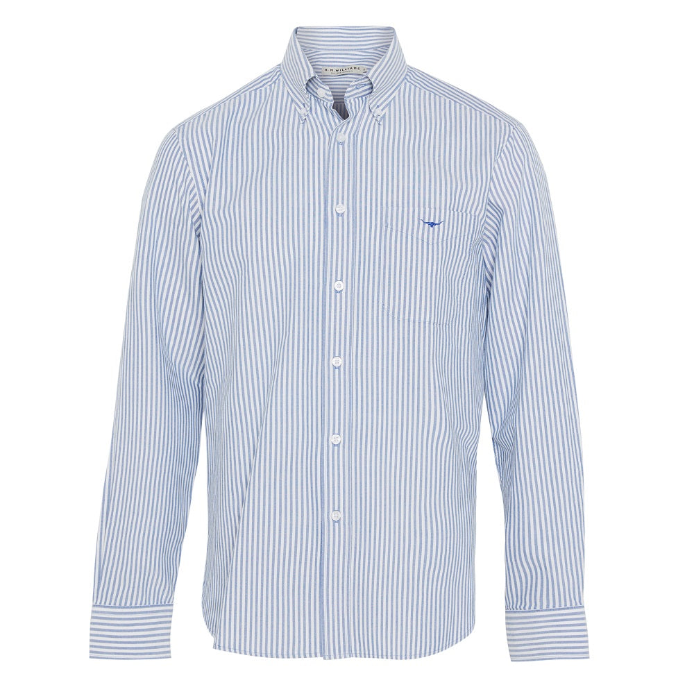R.M. Williams Mens Collins Shirt | Blue / White