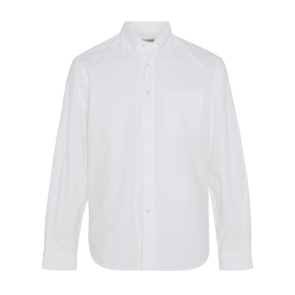 R.M. Williams Mens Collins Button Down Shirt | White