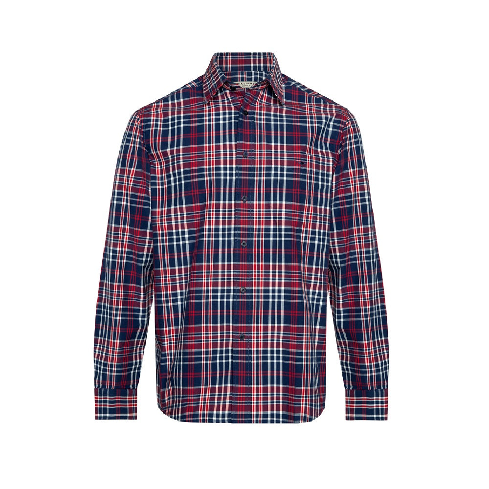 R.M. Williams Collins Shirt | Navy / Red