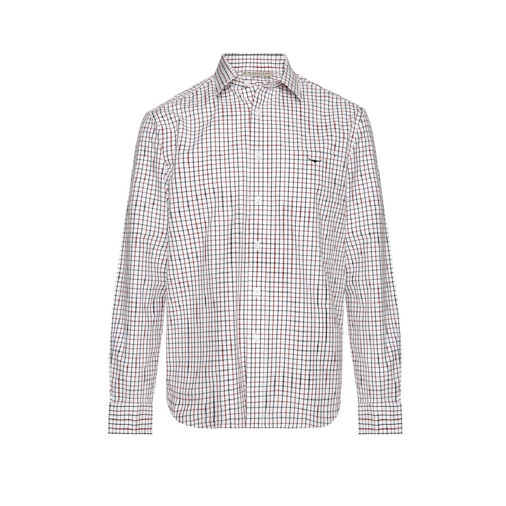 R.M. Williams Collins Shirt | White / Blue / Rust