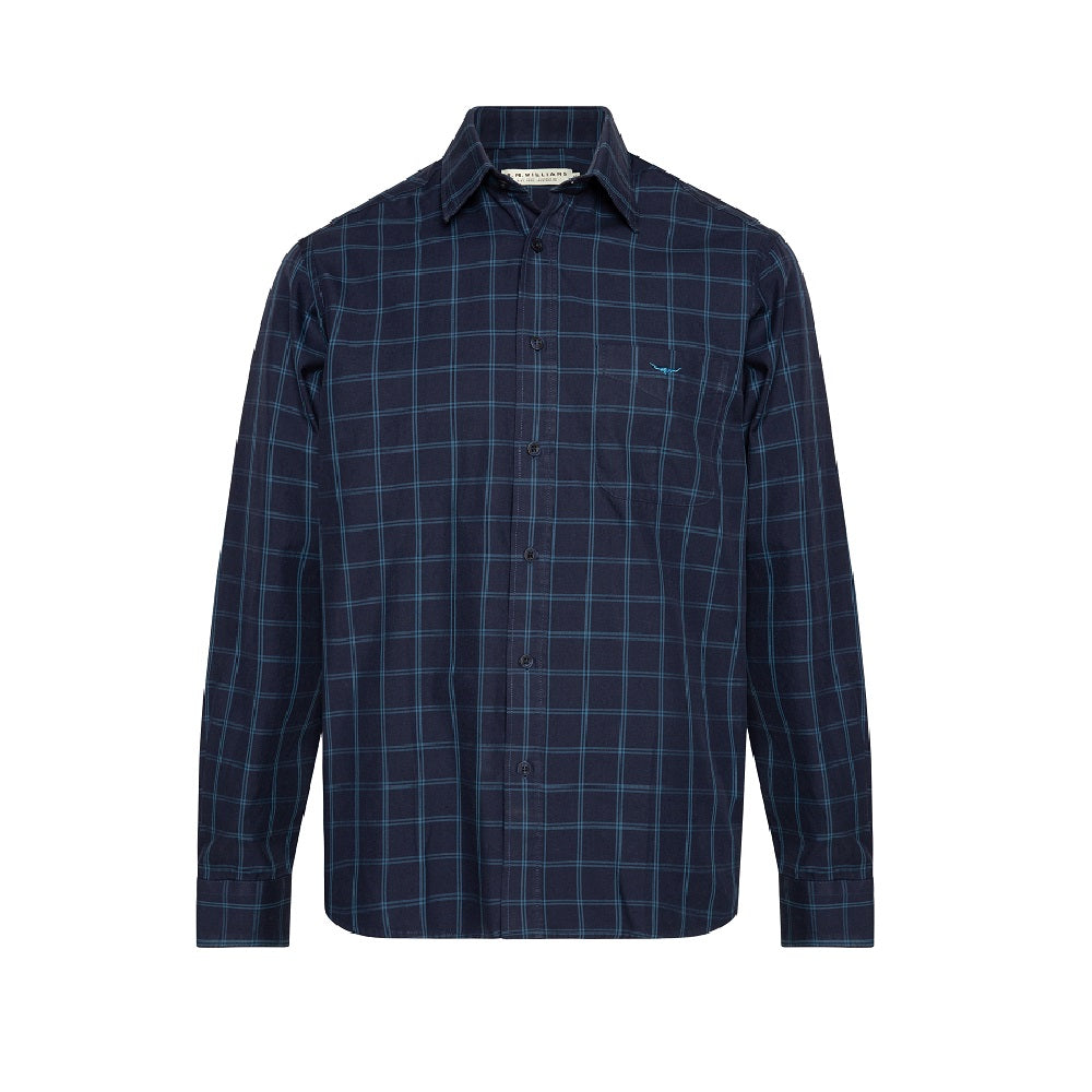 R.M. Williams Collins Shirt | Navy / Blue