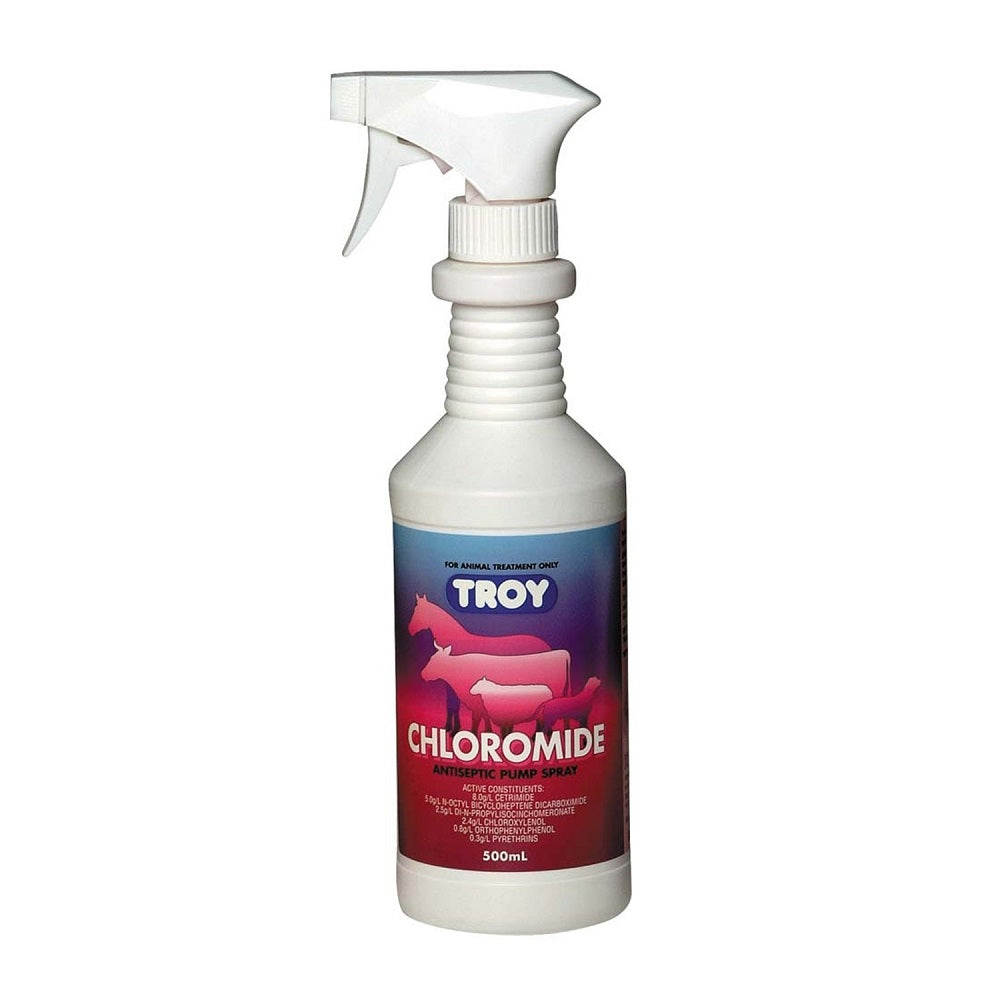 Troy Chloromide Antiseptic Insect & Fly Spray | 500ml