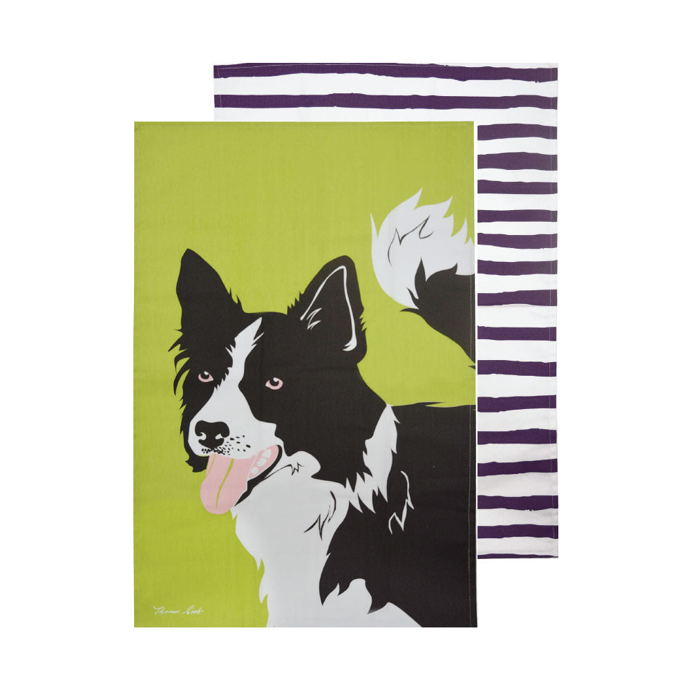 Thomas Cook Tea Towel | Border Collie | Pack of 2