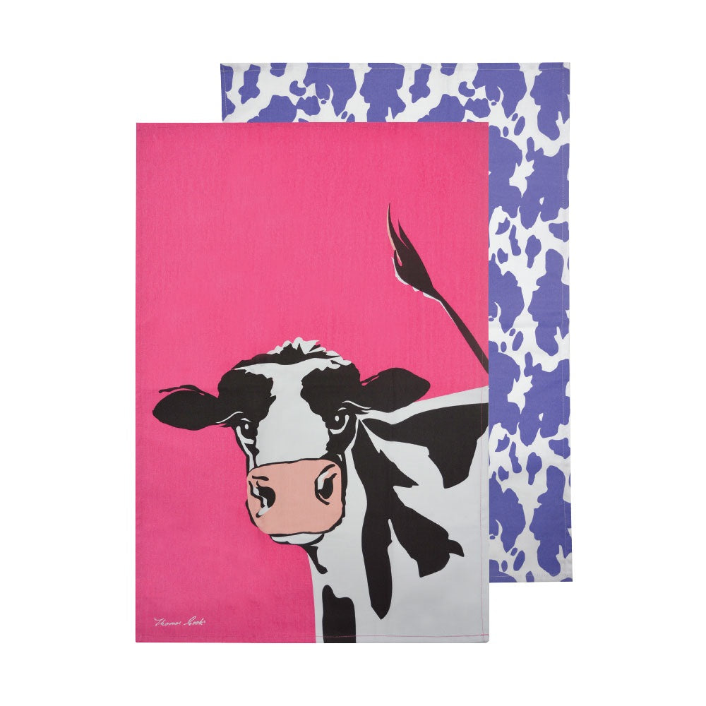 Thomas Cook Tea Towel | Cleo Cow | Pack of 2