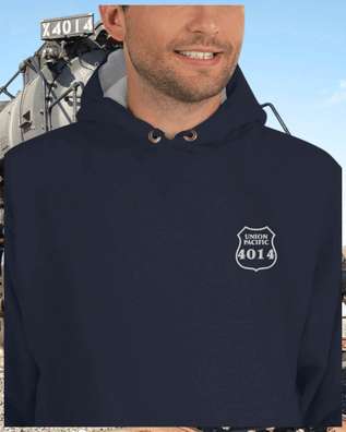 Union Pacific 4014 Embroidered Champion Hoodie