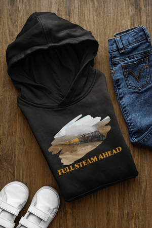 Full Steam Ahead Union Pacific Big Boy Youth Pullover Hoodie
