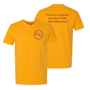 KK Dinkytown Education T-shirt - Gold