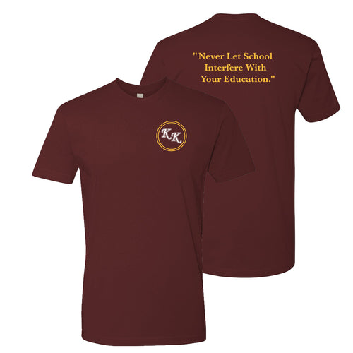 KK Dinkytown Education T-shirt - Maroon