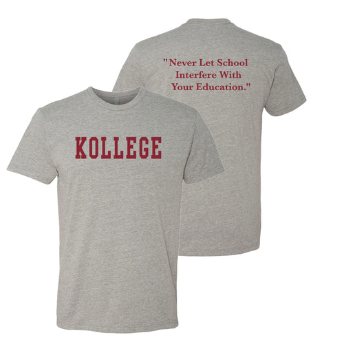 KOLLEGE - KK Dinkytown Klassic T-shirt - Heather Grey