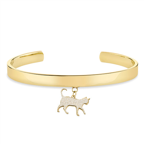 THE BOSS: CAT CHARM, CUFF BRACELET PAVE