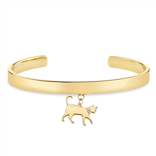 THE BOSS: CAT CHARM, CUFF BRACELET