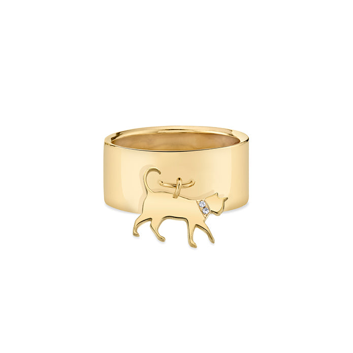 THE BOSS: CAT CHARM RING, DIAMOND