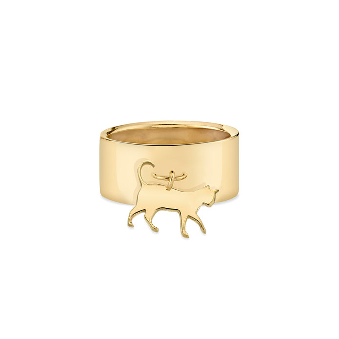 THE BOSS: CAT CHARM RING, NO DIAMOND