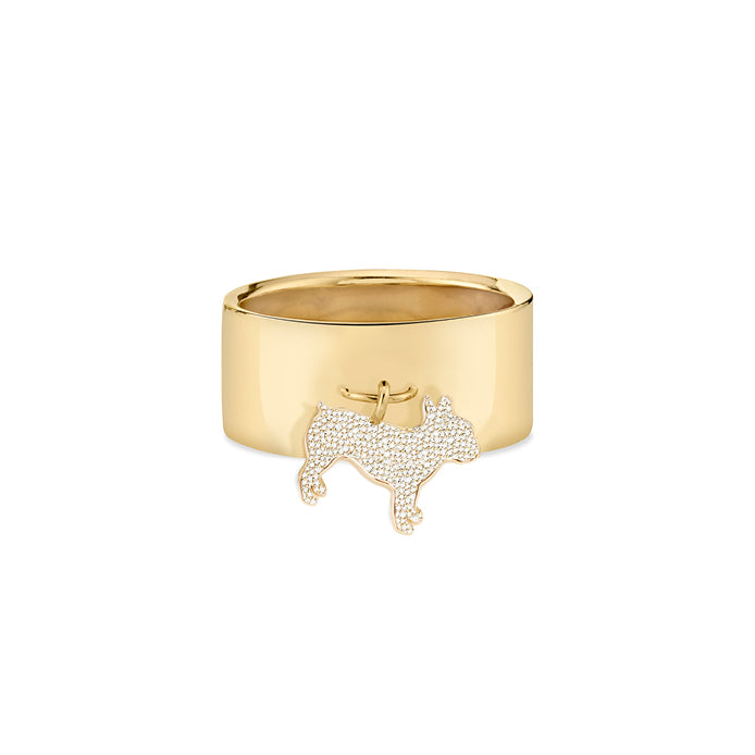MONTE: FRENCH BULLDOG CHARM RING, PATE