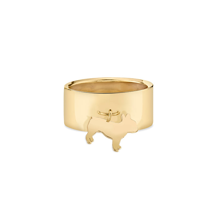 MONTE: FRENCH BULLDOG CHARM RING, NO DIAMOND