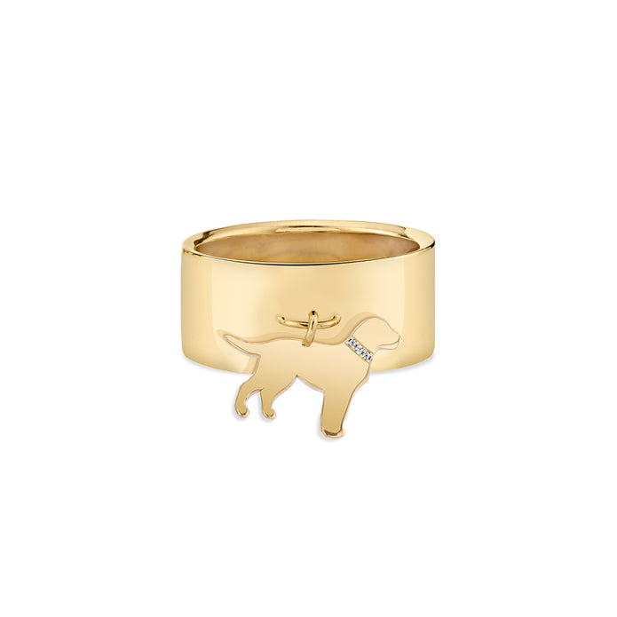 FONZIE: LAB CHARM RING, DIAMOND