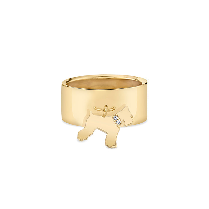 ATTICUS: SCHNAUZER CHARM RING, DIAMOND