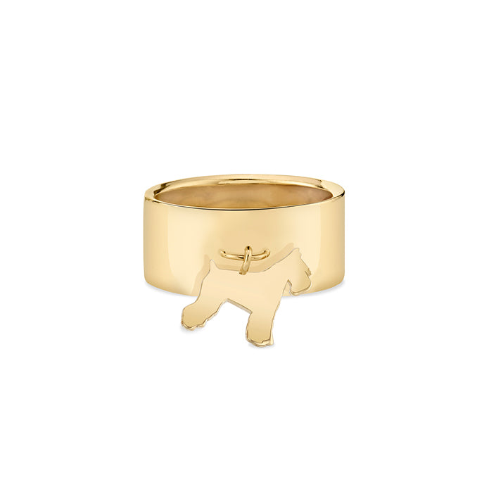 ATTICUS: SCHNAUZER CHARM RING, NO DIAMOND
