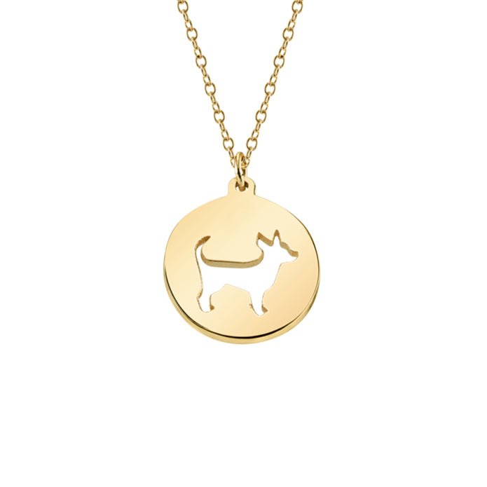 PEPE: CHIHUAHUA CUT-OUT CHARM NECKLACE