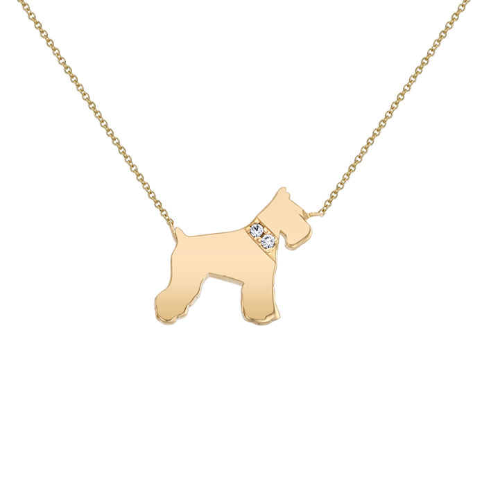 ATTICUS: SCHNAUZER MINI NECKLACE