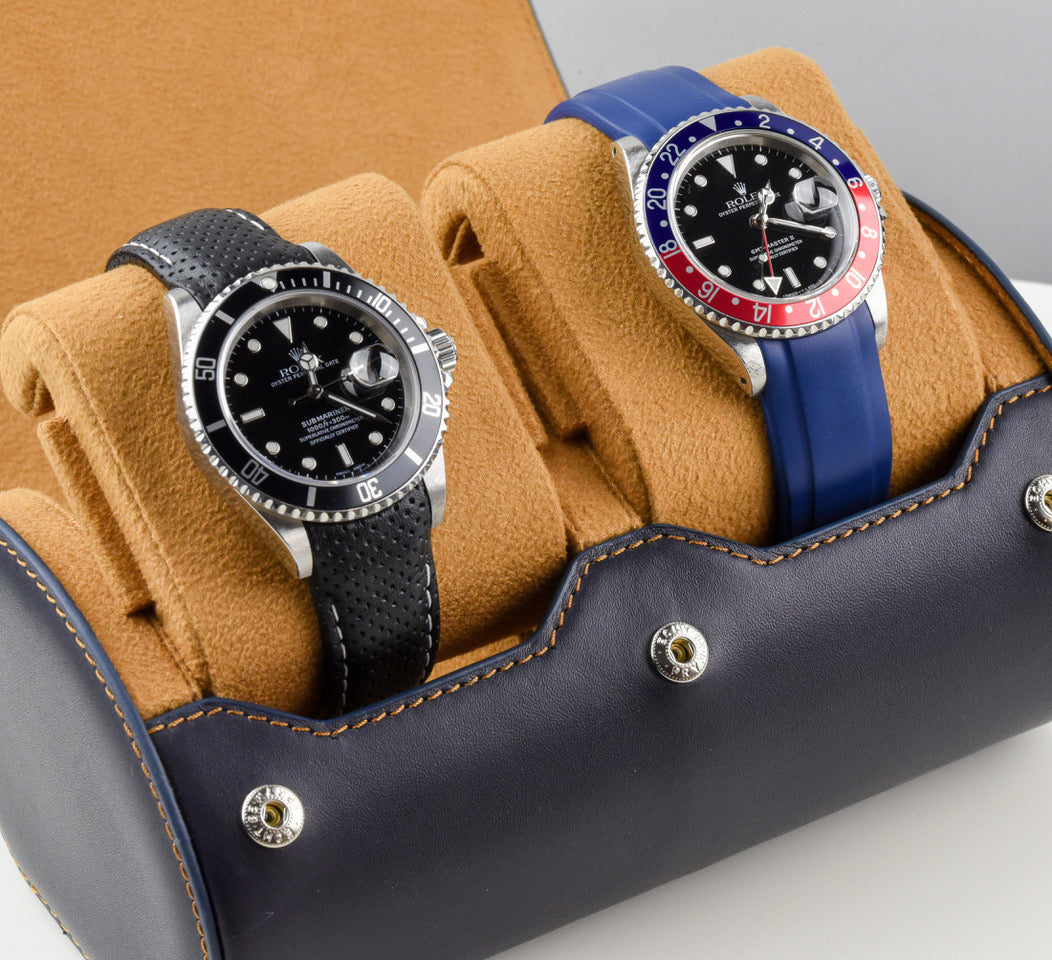Leather Watch Roll - (2 Watches)