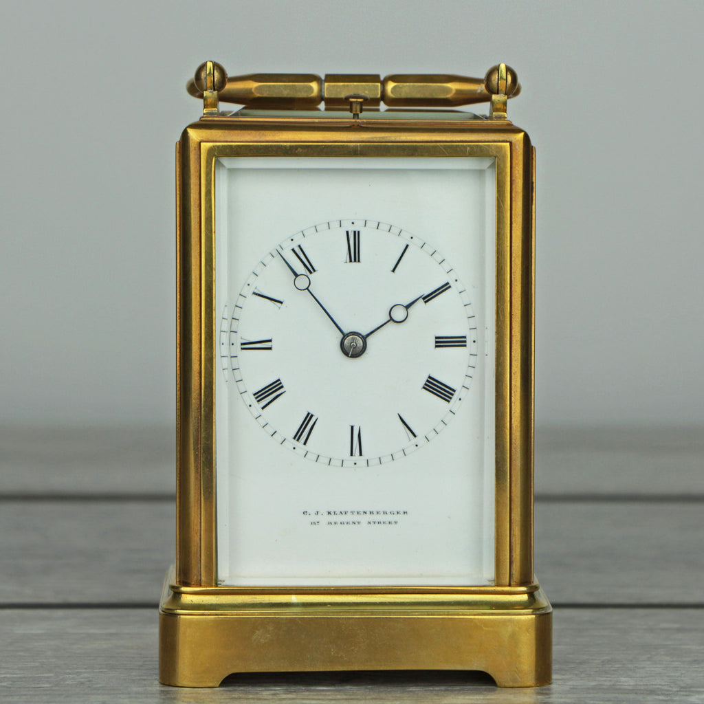 C.J. Klaftenberger c.1860 Carriage Clock