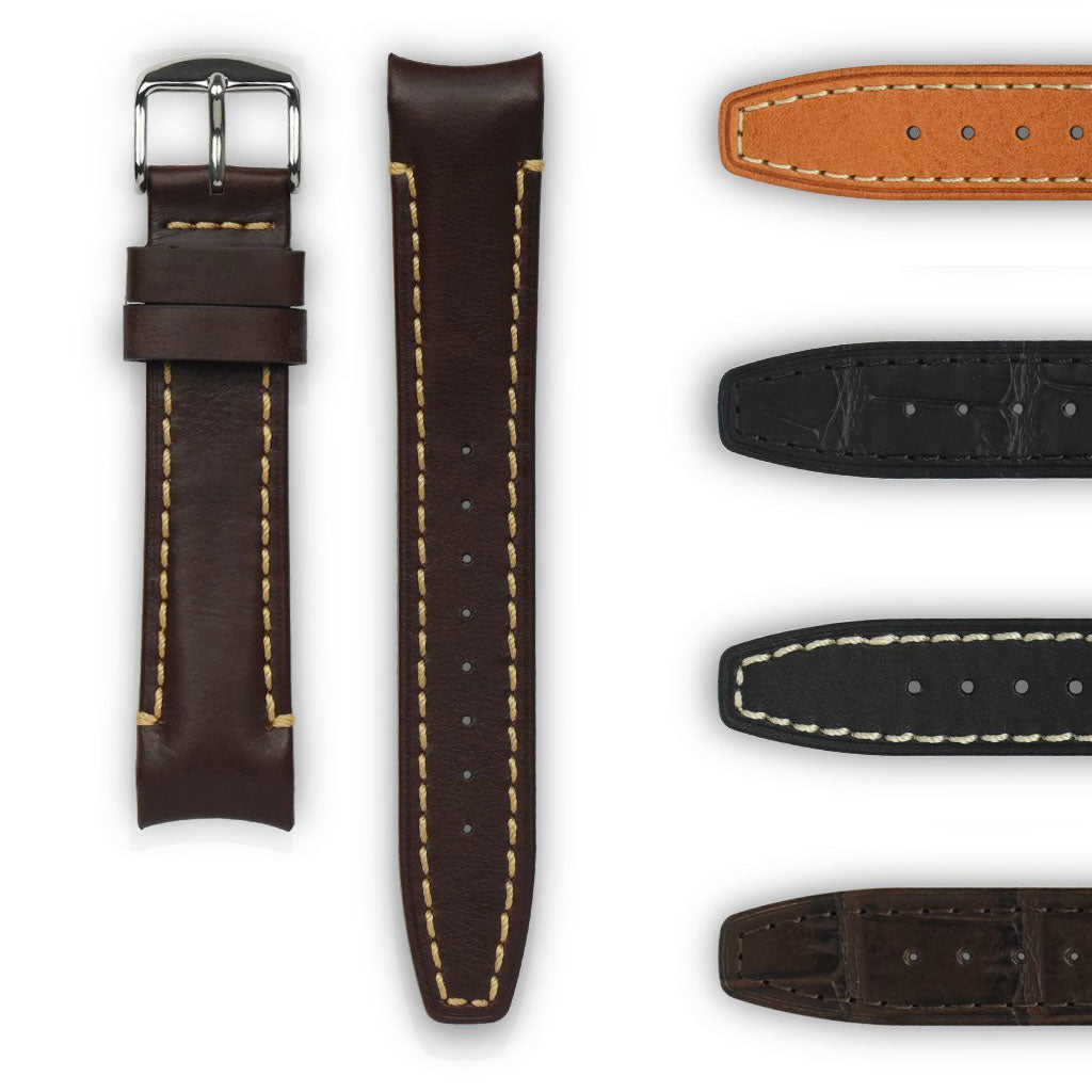 Curved End Leather Strap - (Vintage Models)