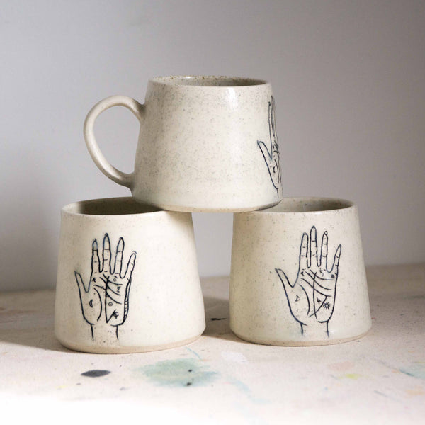 Ceramic Palmistry and Mountain Mugs